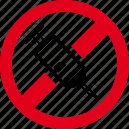 forbidden, prohibited, vaccination, vaccine icon