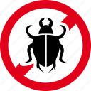 bettle, bugs, forbidden, prohibited, virus icon
