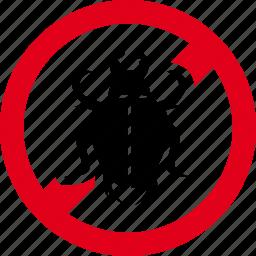 bettle, bugs, forbidden, prohibited, virus icon