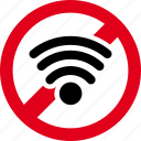 forbidden, prohibited, signal, wifi icon