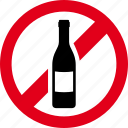 bottle, drinking, forbidden, prohibited, wine icon