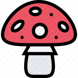forest, garden, mushroom, nature, plant icon