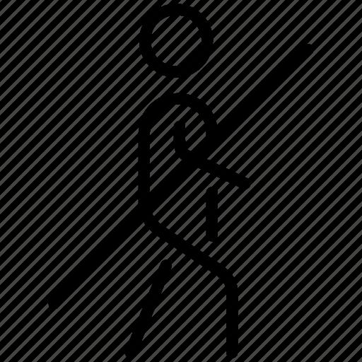 guide, no walk, people, walk icon
