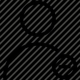 minus, profile, user icon