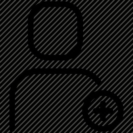 add user, plus, profile, user icon