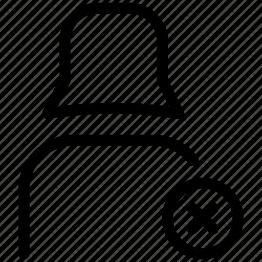 cross, female user, profile, user icon