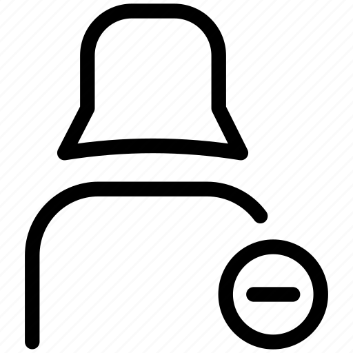 female user, minus, profile, user icon
