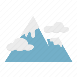 cloud, forestry, forrest, mountain, nature, snow icon
