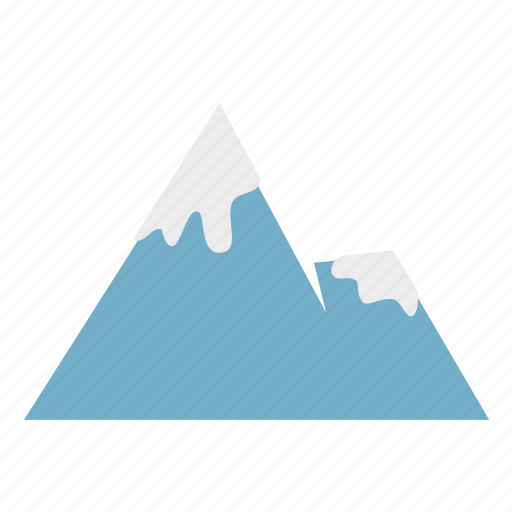 forestry, forrest, mountain, nature, snow, winter icon