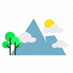 forestry, forrest, mountain, nature, summer, trees icon