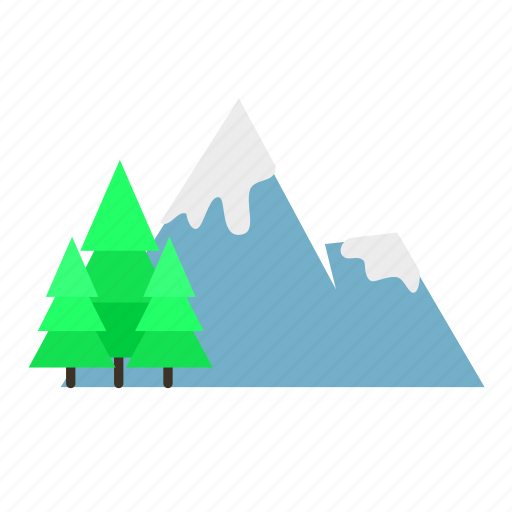 forestry, forrest, mountain, nature, pine, spring icon