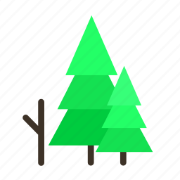 branch, forestry, forrest, pine, tree, trees, young icon