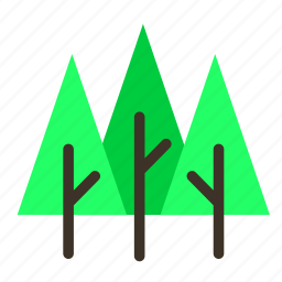 branch, forestry, forrest, pine, tree, trees, triple icon