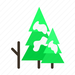 forestry, forrest, pine, snow, tree, trees, winter icon