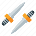 dagger, fortnite, game, pubg, weapon icon