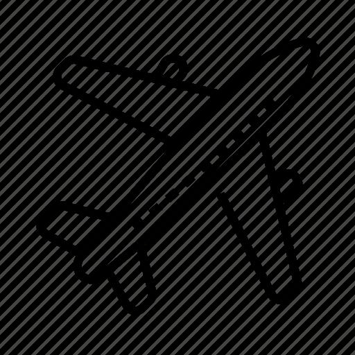 aircraft, aviation, plane, transport icon
