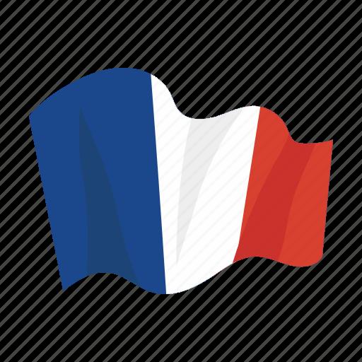 colorful, flag, france, landmark, object, paris icon