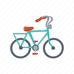 bicycle, colorful, france, landmark, object, paris icon
