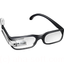 cool, glasses, google, googleglass, silver icon