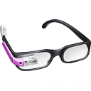 glasses, google, googleglass, pink icon