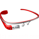 glass, google, googleglass, red icon