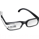 glasses, google, googleglass, student, white icon
