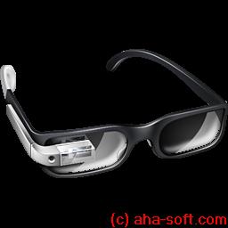 cool, glasses, google, googleglass, silver icon