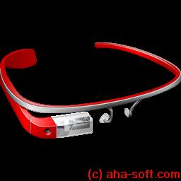 glass, google, googleglass, red icon