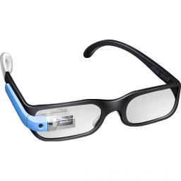 blue, glasses, google, googleglass, guy icon