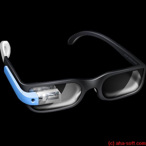 classic, glasses, google, googleglass icon