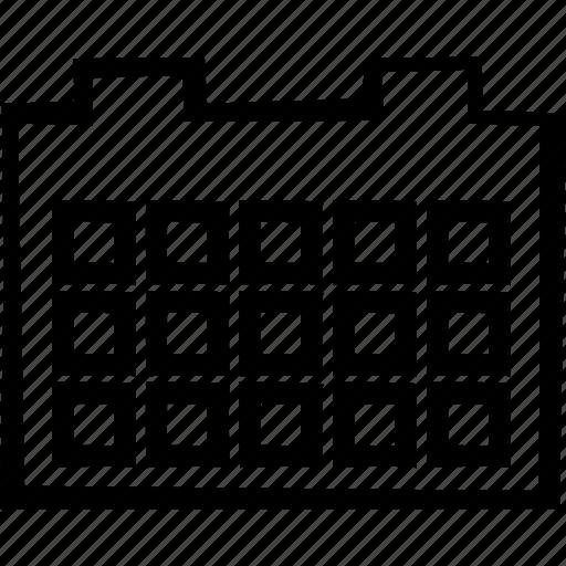 calendar, grid, month, year icon