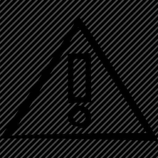 Attention, warning, error, alert, danger icon