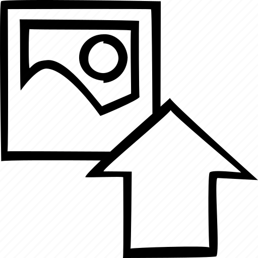 arrow, export, image, load, photo, storage, upload icon