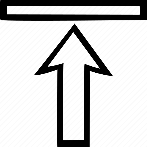 align, arrow, format, top, vertical icon