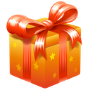 bonus, gift, present, ribbon icon