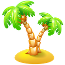 beach, leisure, palm, travel, vacation icon