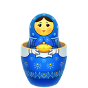 matreshka, matrioshka, mother, open, souvenir icon