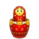 matreshka, mother, open, russia icon