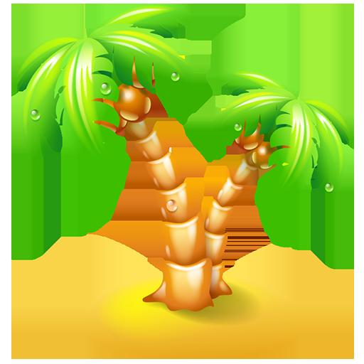 beach, leisure, palm, travel, vacation icon