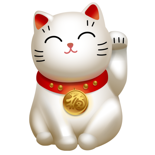 cat, clients, hello, maneki neko icon