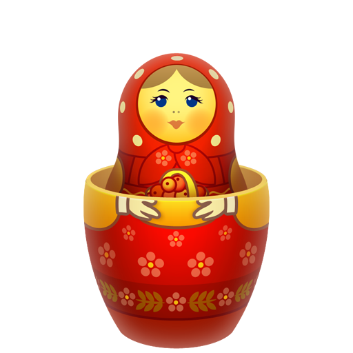 inside, matreshka, matrioshka, mother, nesting, open, russia icon