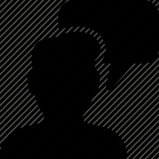 chat, communication, profile, talk, user icon
