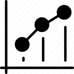 analytics, chart, dot, graph, statistics icon