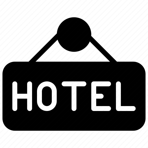 hotel, information, service, sign, support icon