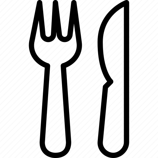 food, fork, kitchen, knife, restaurant icon