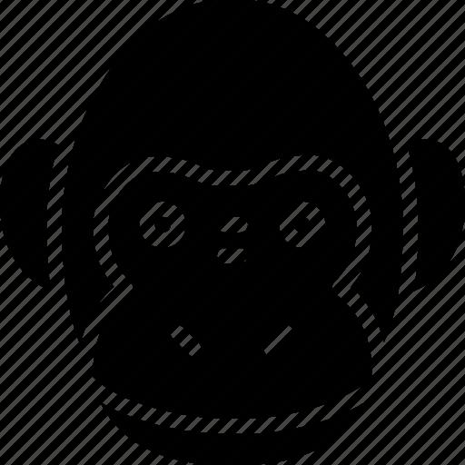 avatar, emoticon, expression, face, monkey icon