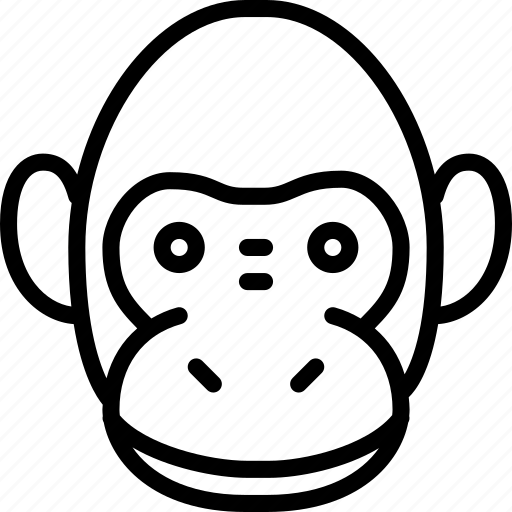 avatar, emoticon, expression, face, monkey icon
