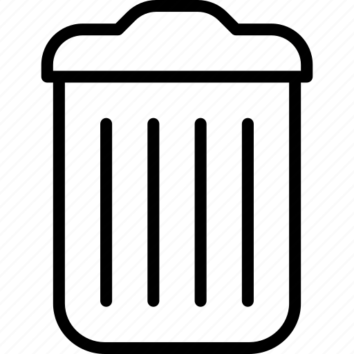 bin, recycle, remove, trash, trashcan icon