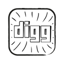 digg, logo, media, network, online, share, social icon