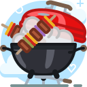 barbecue, cooking, food, garden, grill, party, yumminky icon